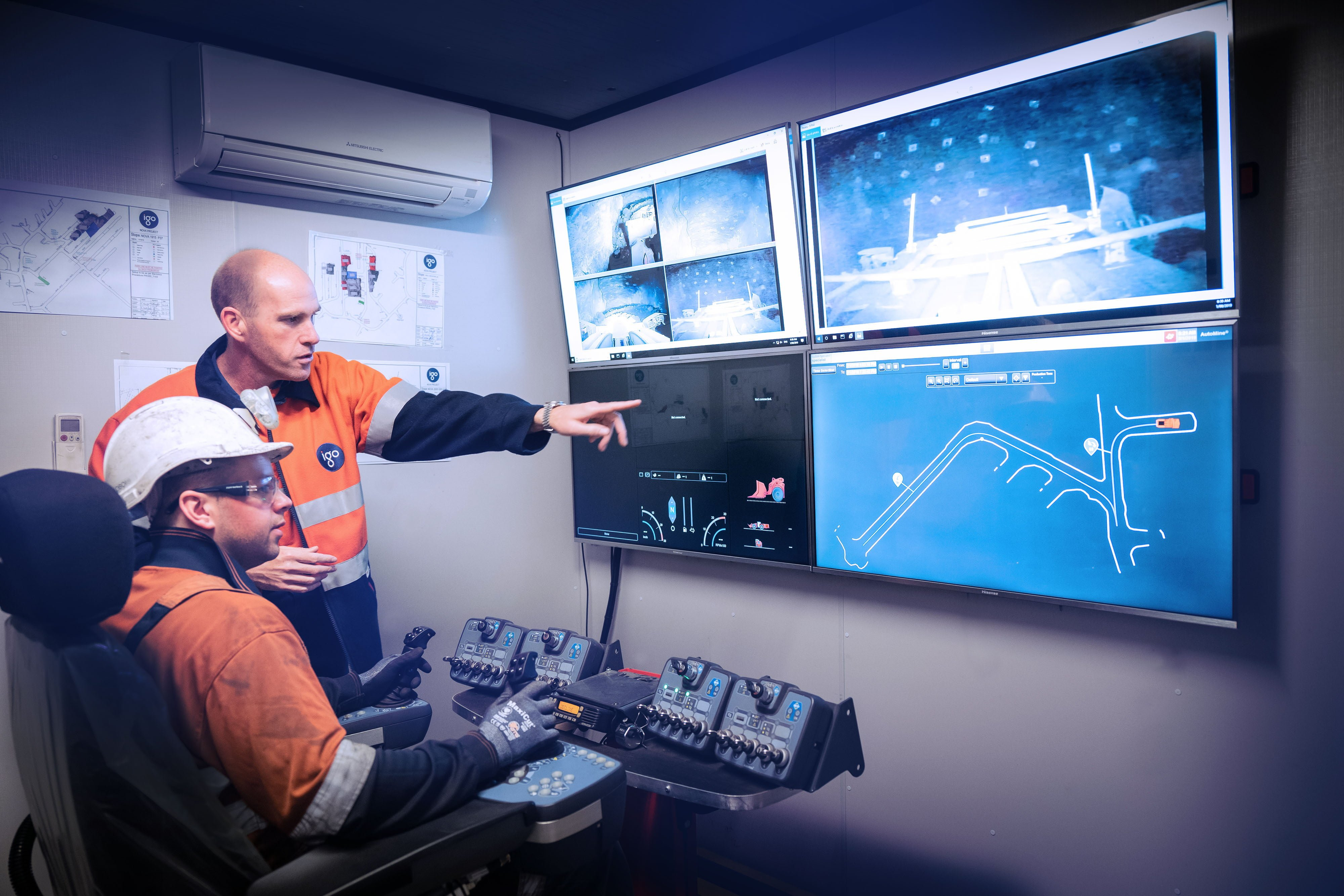 Barminco successfully pilots Remote Operations Centre – BROC • Remote operations onsite at Nova 1