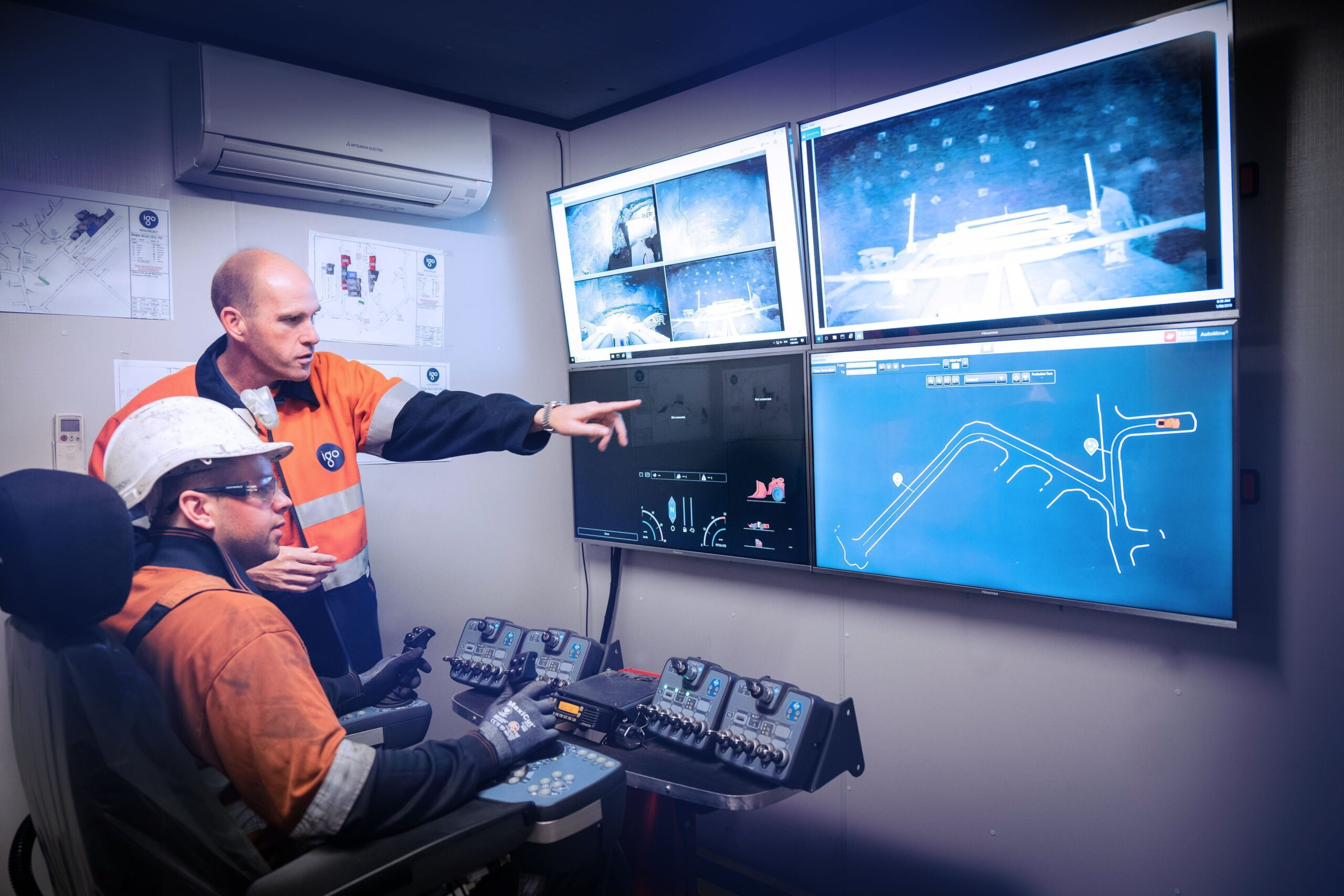 Barminco successfully pilots Remote Operations Centre – BROC • Remote operations onsite at Nova scaled